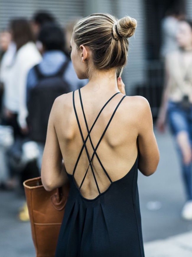 Best of Pinterest Summer Style Louboutins & Love Fashion Blog Esther Santer Hair Women Inspo Street Style Fashion Photography Repin Glam Obsessed Look Wearing Inspiration NYC NYC Blogger Jacket New York Topknot Ponytail Leather Straps Back White Black.jpg