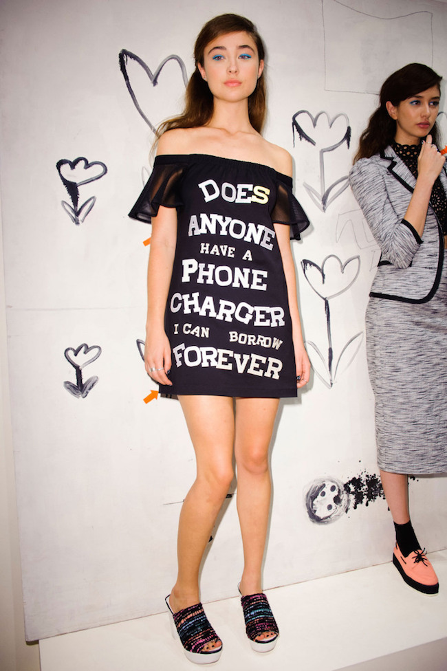 NYFW Nanette Lepore Presentation Spring Summer 2016 Louboutins & Love Fashion Blog Esther Santer NYC Street Style Blogger Models Skirt Shirt White Pink Shoes Black Prints Pretty Outfit Beautiful Trends Shop Runway New York Graphic Tees Ruffles Jewelry.jpg