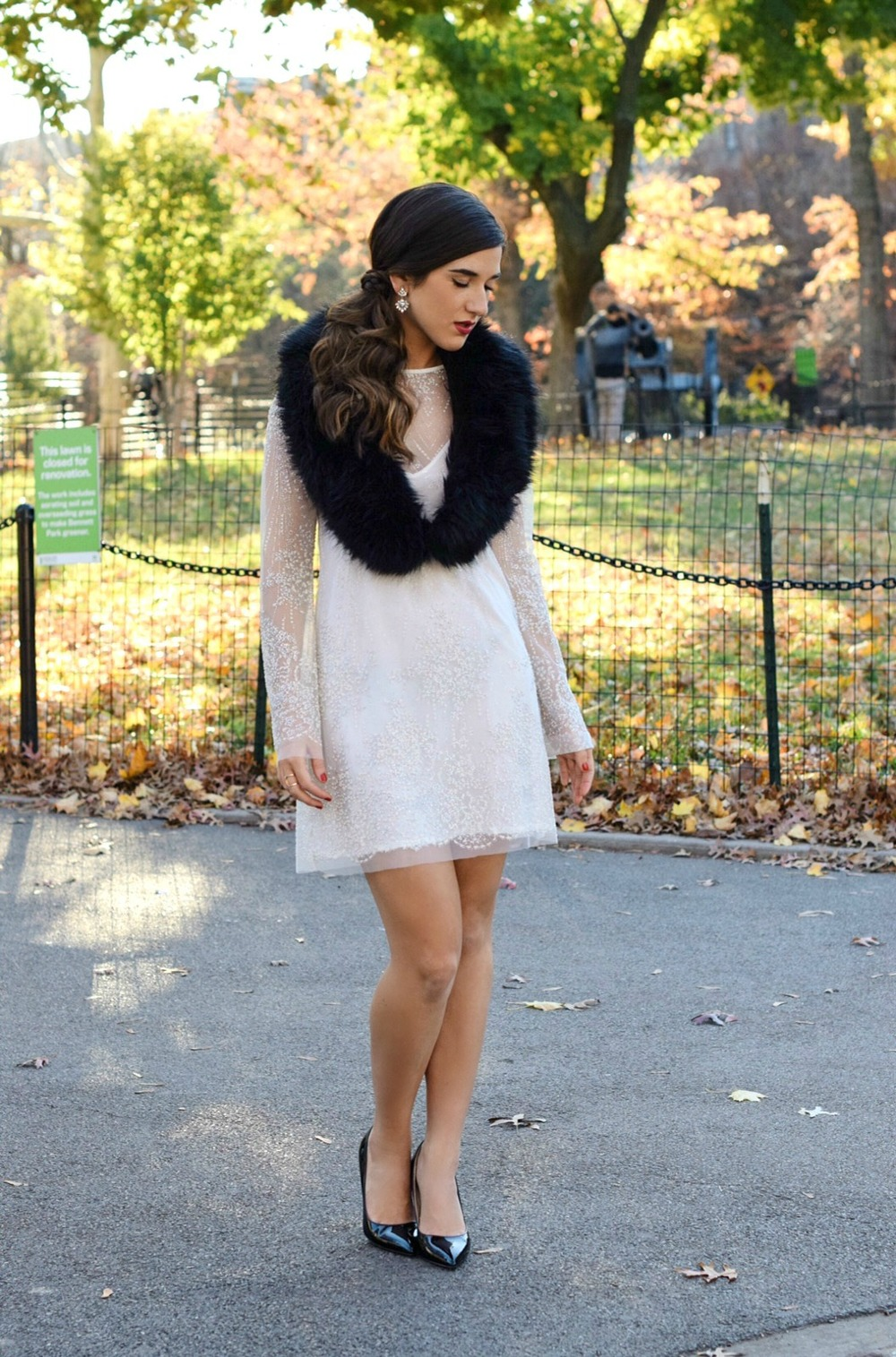 Holiday Look White Glitter Dress Elahn Jewels Louboutins & Love Fashion Blog Esther Santer NYC Street Style Blogger Diamond Rings.jpg