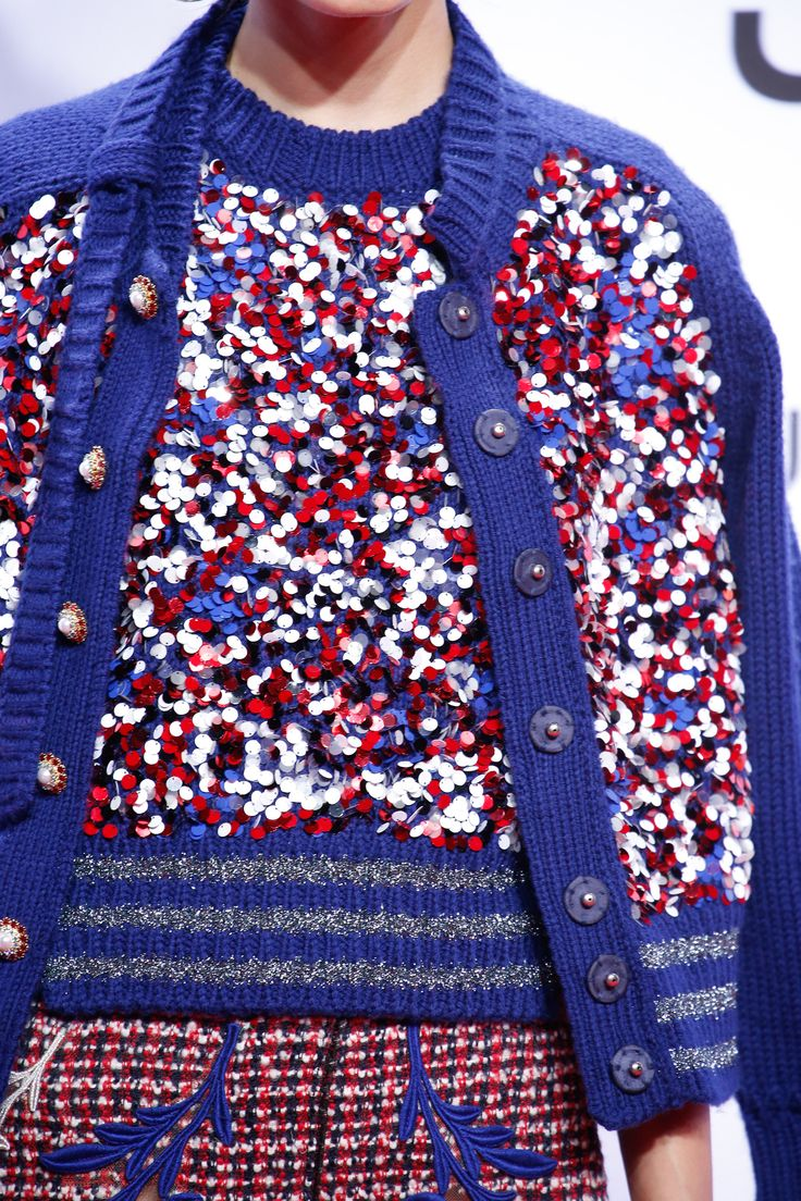 Marc Jacobs L&L Spotlight Louboutins & Love Fashion Blog Esther Santer NYC Street Style Blogger Sweater Runway Red White Blues Sparkels Sequins Up Close Details Models Off Duty Behind Scenes Photo Stripes Rib Knit Pleat Skirt Modest Warm Fall Winter.jpg