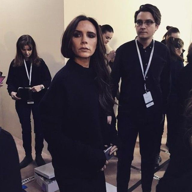 Victoria Beckham L&L Spotlight Louboutins & Love Fashion Blog Esther Santer NYC Street Style Blogger Backstage Runway Team All Black Sleek Chic Designer Mom Working Women Busy Pre Show David London British UK London Week Charge Simple Classic Classy.jpg