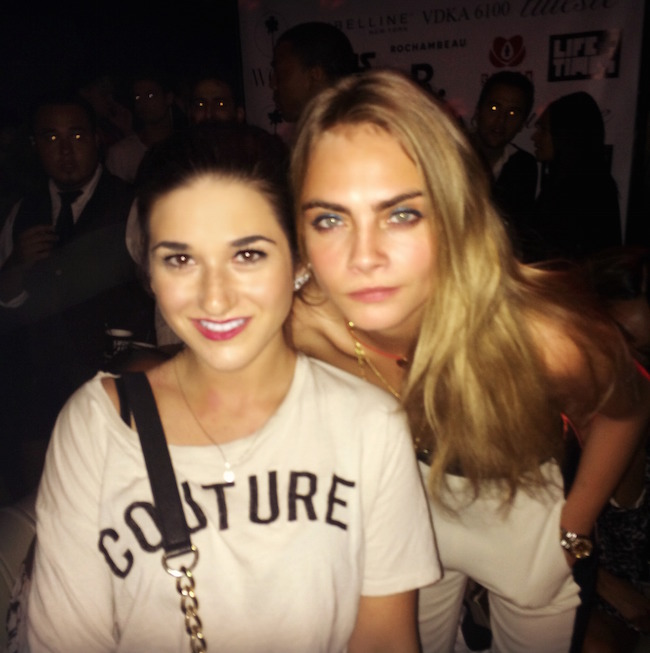 me and Cara Delevingne