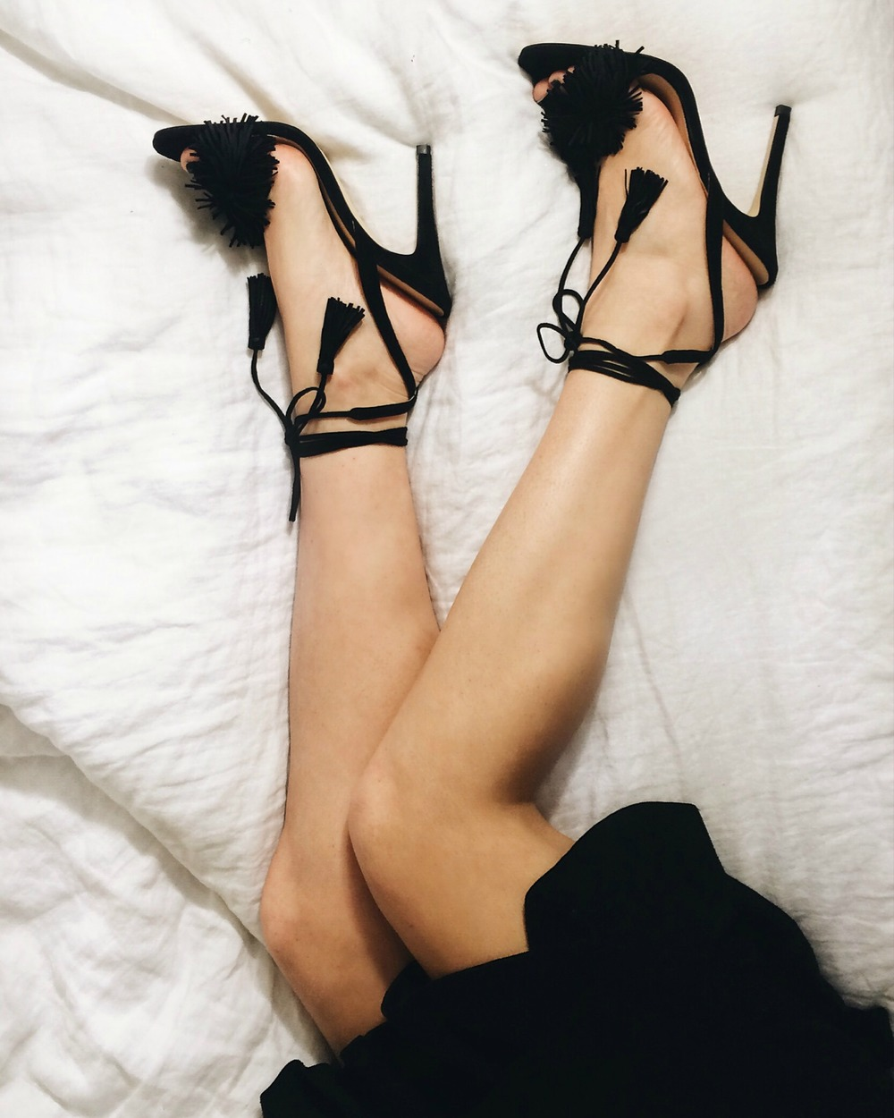 Black Fringe Tassel Sandals Ivanka Trump Louboutins & Love Fashion Blog Esther Santer NYC Street Style Blogger Shoes Summer Spring Sexy Heels Legs Feet Pretty Beatiful Women Girls Stilettos Nordstrom Bloomingdales Lord Taylor Shop Wear Inspo Gorgeous.jpg