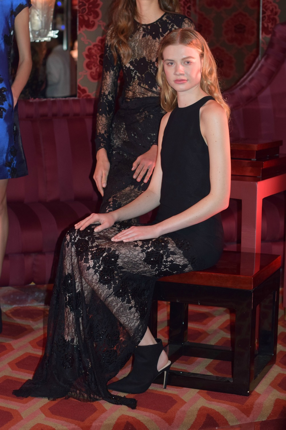 NYFW Josie Natori Fashion Presentation Fall:Winter 2016 Louboutins & Love Fashion Blog Esther Santer NYC Street Style Runway Models Collection Hair Beauty Inspo Press Event Coverage Photos Details Dress Gown Beautiful Pretty Lace Trends Gorgeous Blue.jpg
