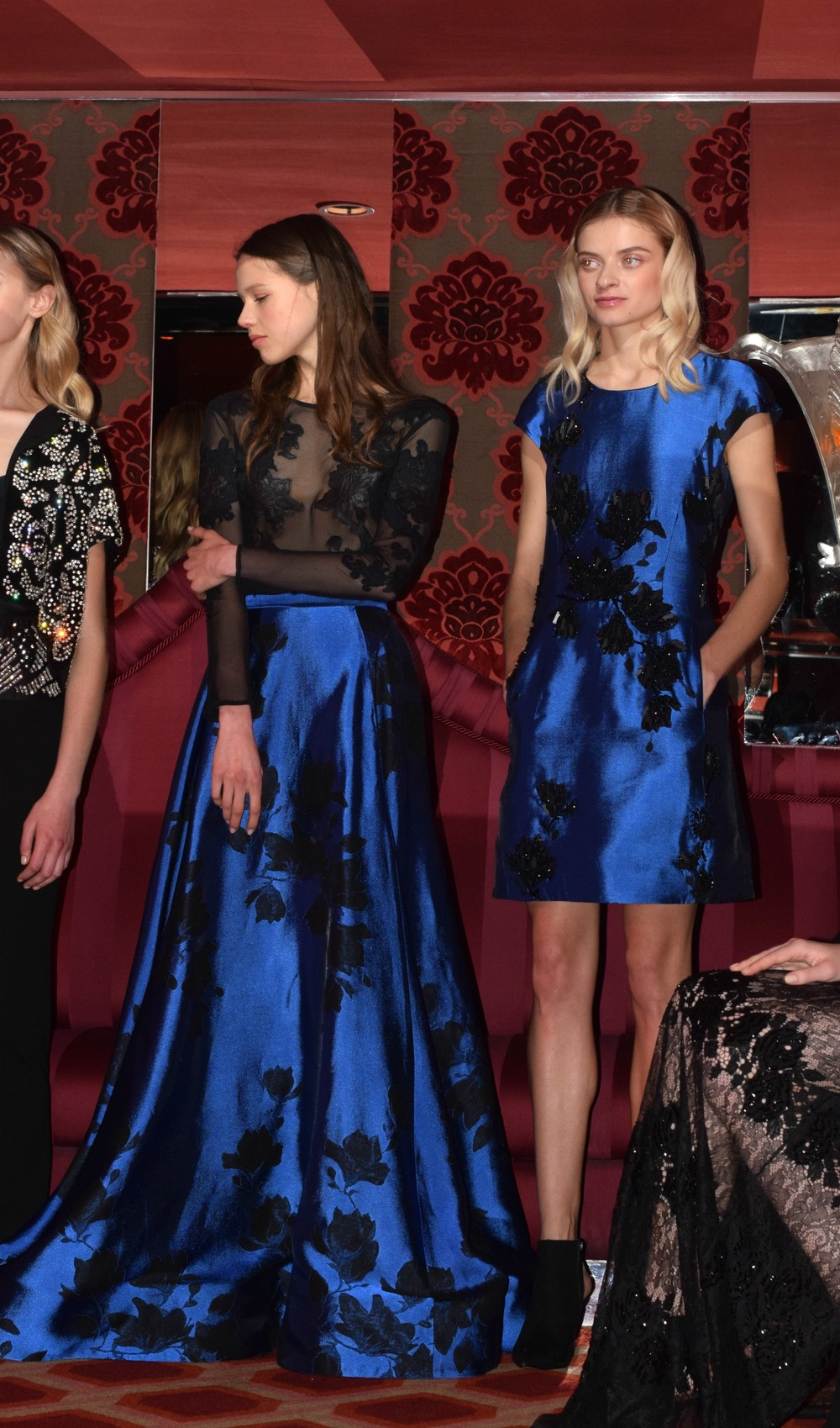 NYFW Josie Natori Fashion Presentation Fall:Winter 2016 Louboutins & Love Fashion Blog Esther Santer NYC Street Style Runway Models Collection Hair Beauty Inspo Press Event Coverage Photos Details Dress Gown Beautiful Pretty Shop Trends Gorgeous Blue.jpg