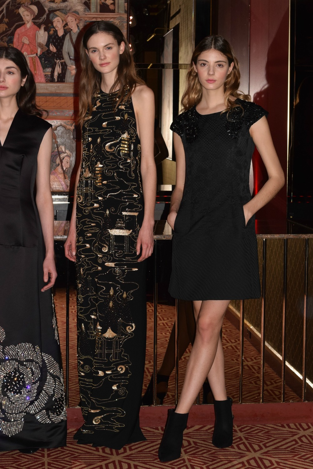 NYFW Josie Natori Fashion Presentation Fall:Winter 2016 Louboutins & Love Fashion Blog Esther Santer NYC Street Style Runway Models Collection Hair Inspo Beauty Press Event Coverage Photos Details Gown Dress Trends Beautiful Pretty Lace Gorgeous Blue.jpg