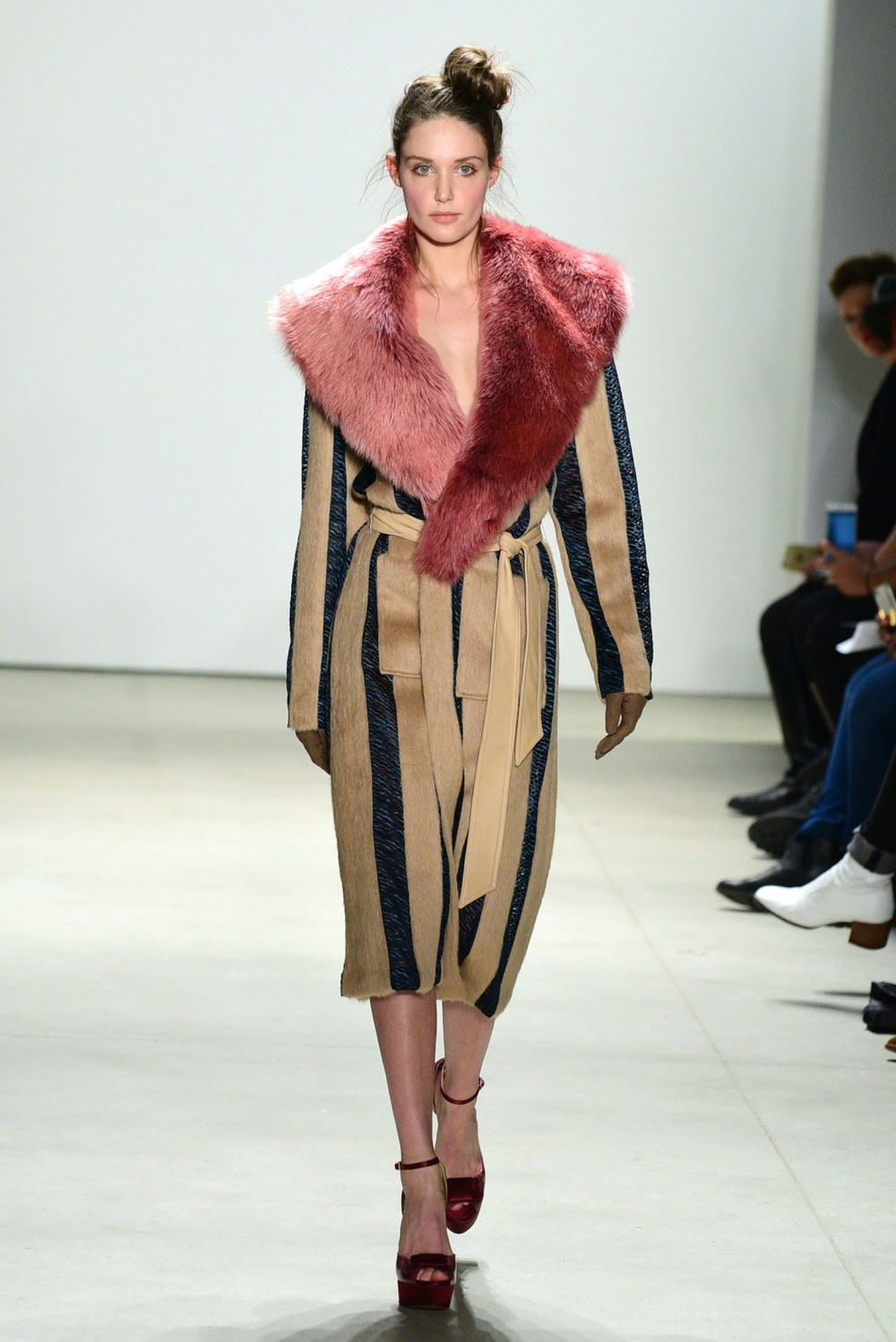 NYFW Georgine Fashion Show Fall Winter 2016 Louboutins & Love Fashion Blog Esther Santer NYC Street Style Runway Model Collection Skirt Beauty Inspo Front Row Event Photo Details Hair Dress Gown Beautiful Pretty Celebrities Stunning Gorgeous Sheer Fur.jpg