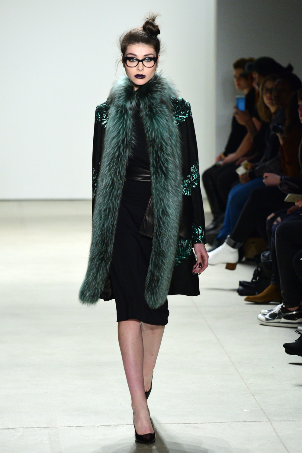 NYFW Georgine Fashion Show Fall Winter 2016 Louboutins & Love Fashion Blog Esther Santer NYC Street Style Runway Model Collection Skirt Inspo Beauty Front Row Event Details Photo Hair Dress Pretty Gown Beautiful Celebrities Stunning Gorgeous Sheer Fur.jpg