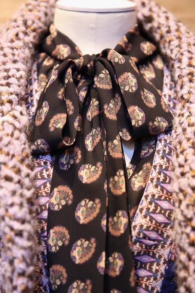 NYFW Nanette Lepore Fashion Presentation Fall Winter 2016 Louboutins & Love Fashion Blog Esther Santer NYC Street Style Models Modern  Collection Hair Trends Pretty Inspo Event Details Photos Shoes Outfit Pants Tweed Silk Beading Maroon Print Jacket.jpg