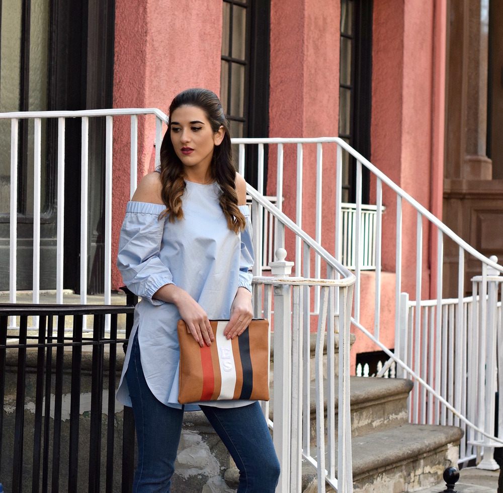 Cold Shoulder Tibi Top Frame Denim Louboutins & Love Fashion Blog Esther Santer NYC Fashion Blogger Jeans Designer Outfit OOTD Trunk Club Stylist Online Shopping Dolce Vita Platform Sandals Girl Women Inspiration Inspo Buy Shoes Pretty Girly Clutch.jpg