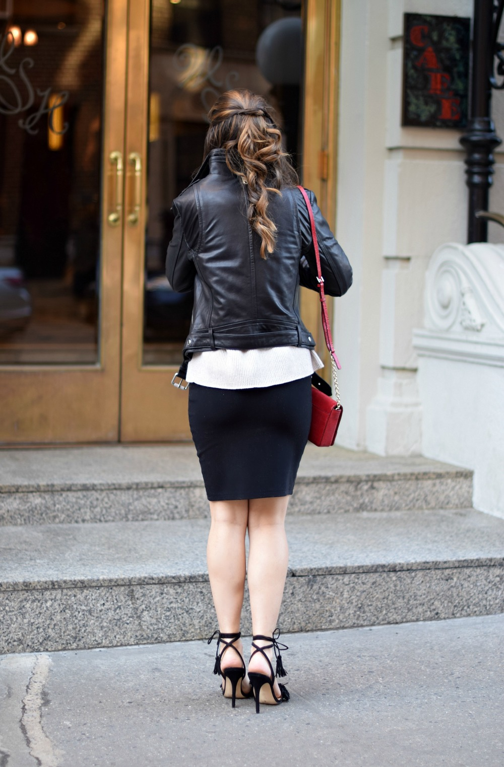 Ivanka Trump Fringe Sandals Mackage Moto Jacket Louboutins & Love Fashion Blog Esther Santer NYC Street Style Blogger Outfit OOTD Leather Summer Spring Designer Clothes Shop Photoshoot Model Helmut Lang Sweater Skirt Beautiful Pretty Shoes Women Girl.jpg