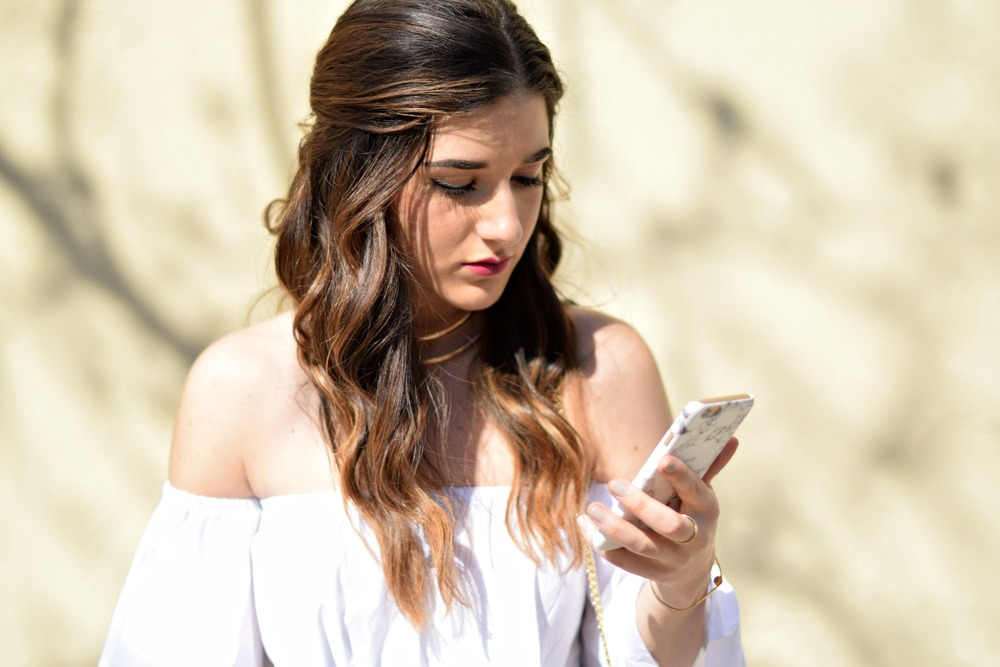 Marble iPhone Case Caseapp Louboutins & Love Fashion Blog Esther Santer NYC Street Style Blogger Product Review Model Girl Women Hair Choker Cold Shoulder Photography Photoshoot New York City Nails Phone Trendy Shop Buy Giveaway Discount Code Outdoors.jpg