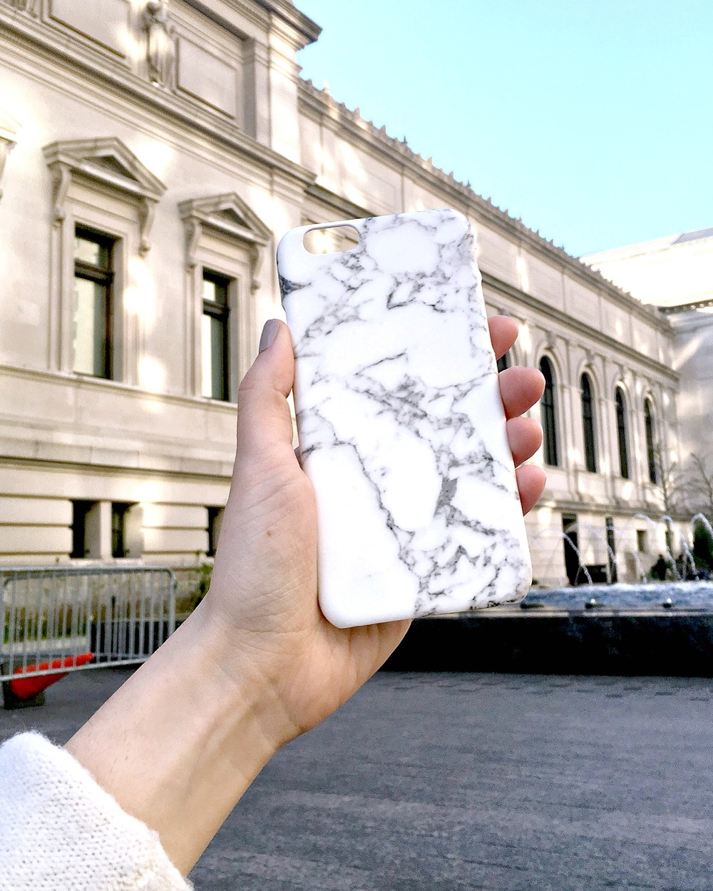 Marble iPhone Case Caseapp Louboutins & Love Fashion Blog Esther Santer NYC Street Style Blogger Product Review Model Girl Women Hair Choker Cold Shoulder Photography Photoshoot New York City Nails Phone Trendy Shop Giveaway Buy Discount Code Outdoors.jpg