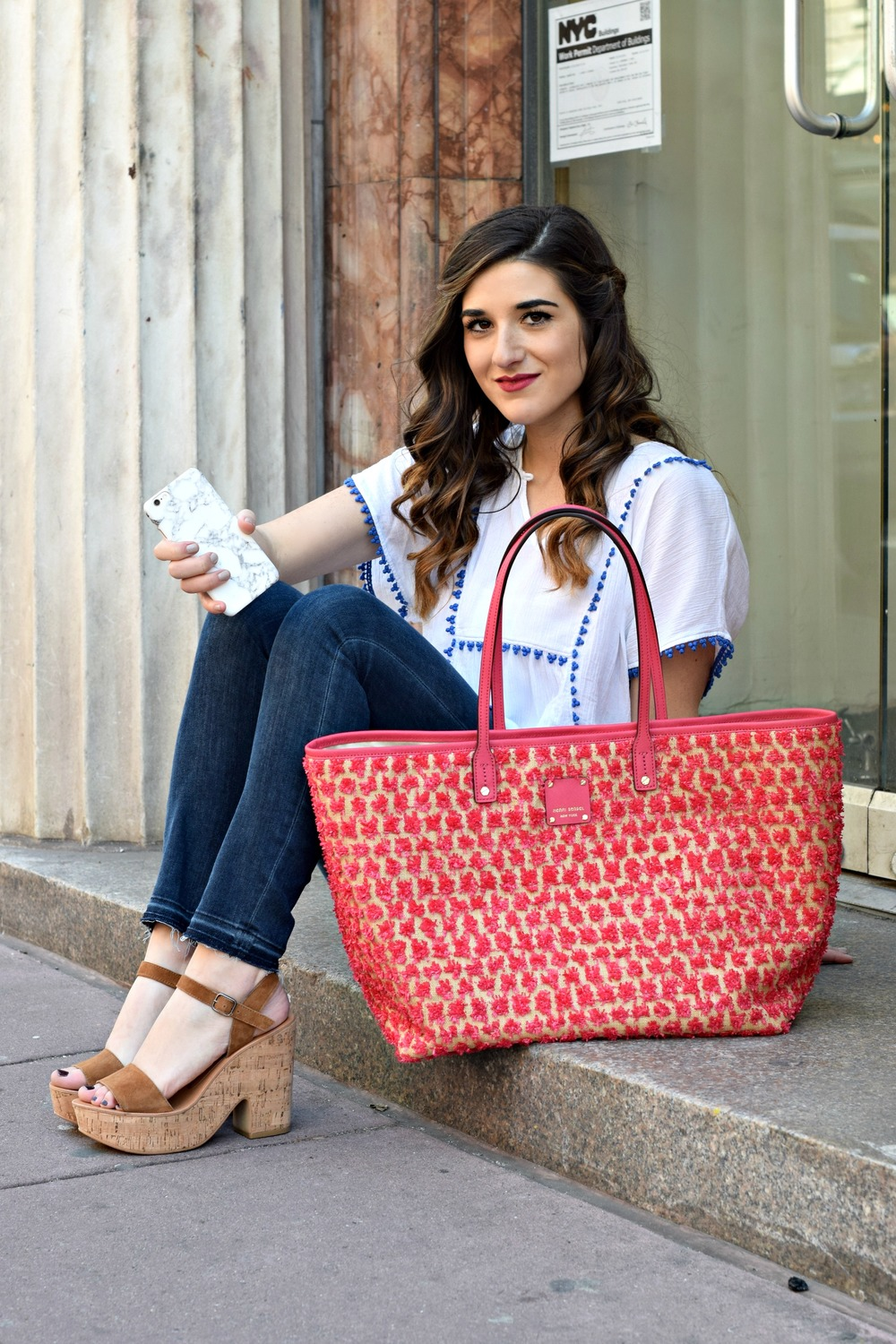 Marble iPhone Case Caseapp Louboutins & Love Fashion Blog Esther Santer NYC Street Style Blogger Product Review Model Girl Women Hair Choker Cold Shoulder Photography Photoshoot New York City Nails Phone Trendy Buy Shop Giveaway Discount Code Outdoors.jpg
