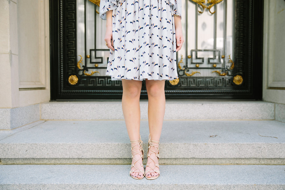 Cold Shoulder Robbie Dress :: Rebecca Minkoff Louboutins & Love Fashion Blog Esther Santer NYC Street Style Blogger Outfit OOTD Photoshoot Bloomingdale's Ivanka Trump Lace-Up Heels Shoes Nordstrom Shopping Jewelry Necklaces Model Pretty Girly Feminine.jpg