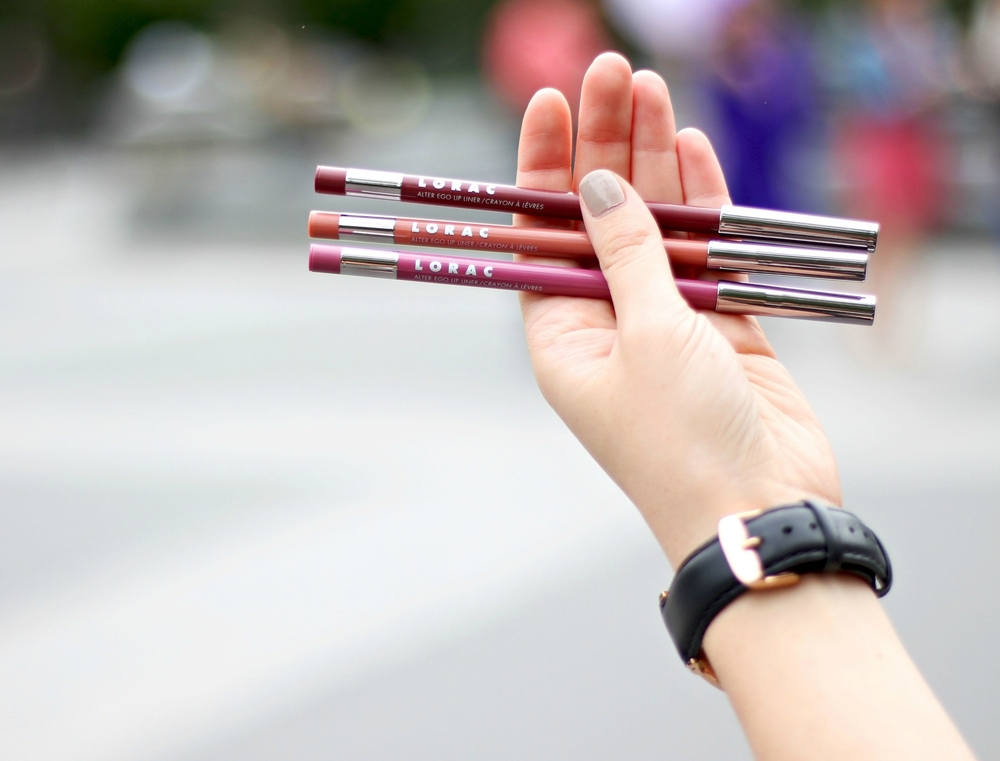 Alter Ego Lip Liners Lorac Louboutins & Love Fashion Blog Esther Santer NYC Street Style Blogger Makeup Look Review Travel Collection Color Burbundy Pink Nude Cosmetics Collab Photography Retractable Pencil Pretty Beauty Women Girls New York City Shop.jpg