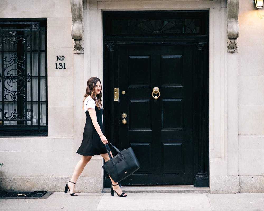 Black And White Ivanka Trump Heels Soho Tote Louboutins & Love Fashion Blog Esther Santer NYC Street Style Blogger Outfit OOTD T.jpg