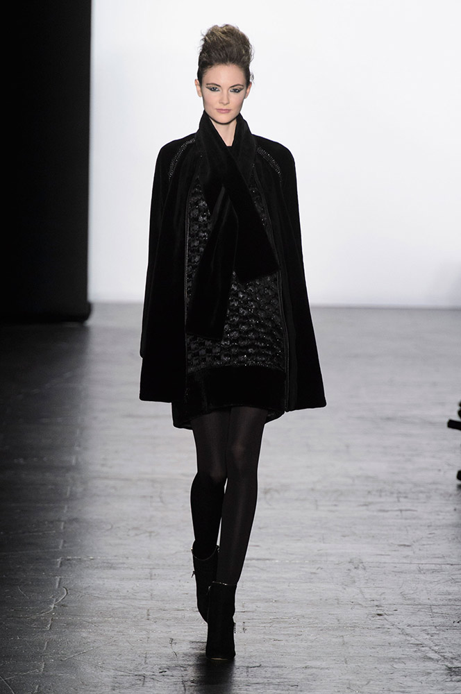 NYFW Carmen Marc Valvo Fashion Show Fall Winter 2016 Louboutins & Love Fashion Blog Esther Santer NYC Street Style Models Collection Hair Pretty Trends Inspo Press Event Coverage Details Photos Gown Fur Outfit Beautiful Dress Evening Wear Shoes Red.jpg