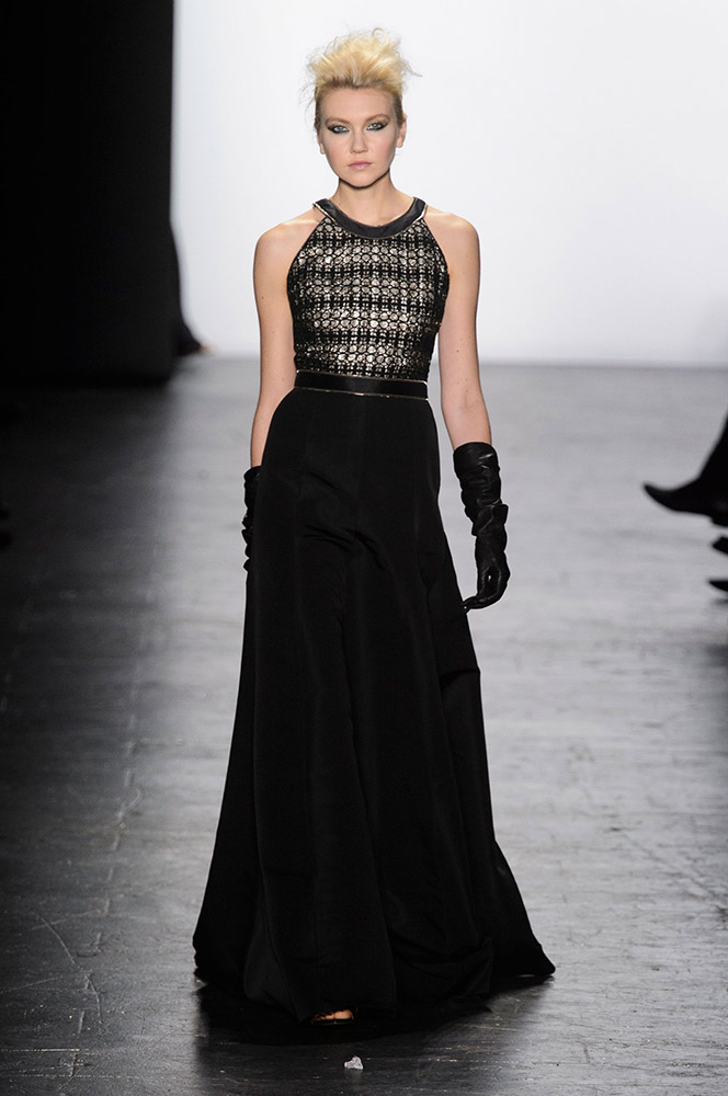 NYFW Carmen Marc Valvo Fashion Show Fall Winter 2016 Louboutins & Love Fashion Blog Esther Santer NYC Street Style Models Collection Hair Trends Pretty Inspo Press Event Coverage Details Photos Gown Outfit  Fur Beautiful Dress Evening Wear Shoes Red.jpg