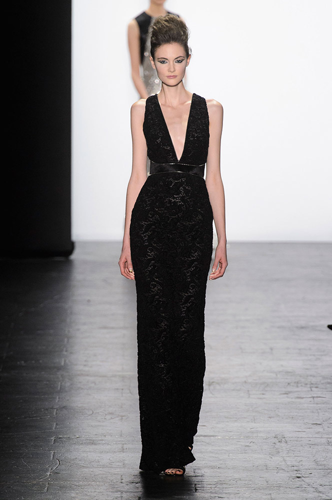 NYFW Carmen Marc Valvo Fashion Show Fall Winter 2016 Louboutins & Love Fashion Blog Esther Santer NYC Street Style Models Collection Hair Trends Pretty Inspo Press Event Coverage Details Photos Gown Outfit Dress Beautiful Evening Wear Shoes Red Fur.jpg