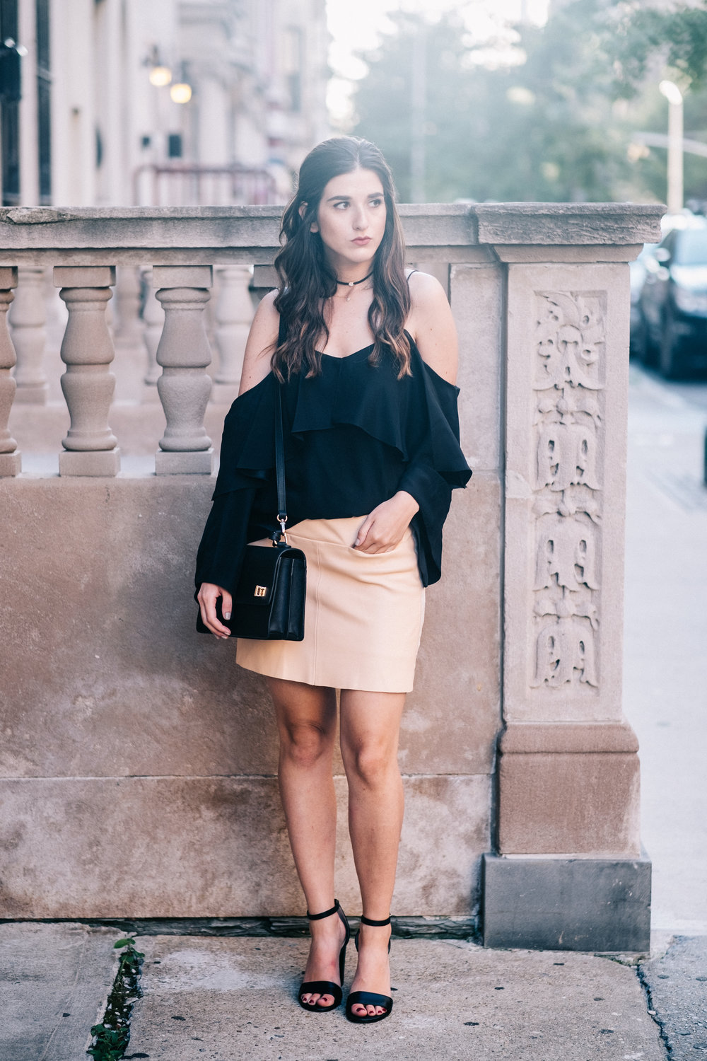 The+Perfect+Everyday+Bag+Henri+Bendel+Louboutins+&+Love+Fashion+Blog+Esther+Santer+NYC+Street+Style+Blogger+Outfit+OOTD+Trendy+Jay+Godfrey+Black+Cold+Shoulder+Top+Pink+Pleather+Skirt+Zara+Ivanka+Trump+Klover+Inspo+Sandals+Heels+Women+Purse+Girl+Hair.jpg