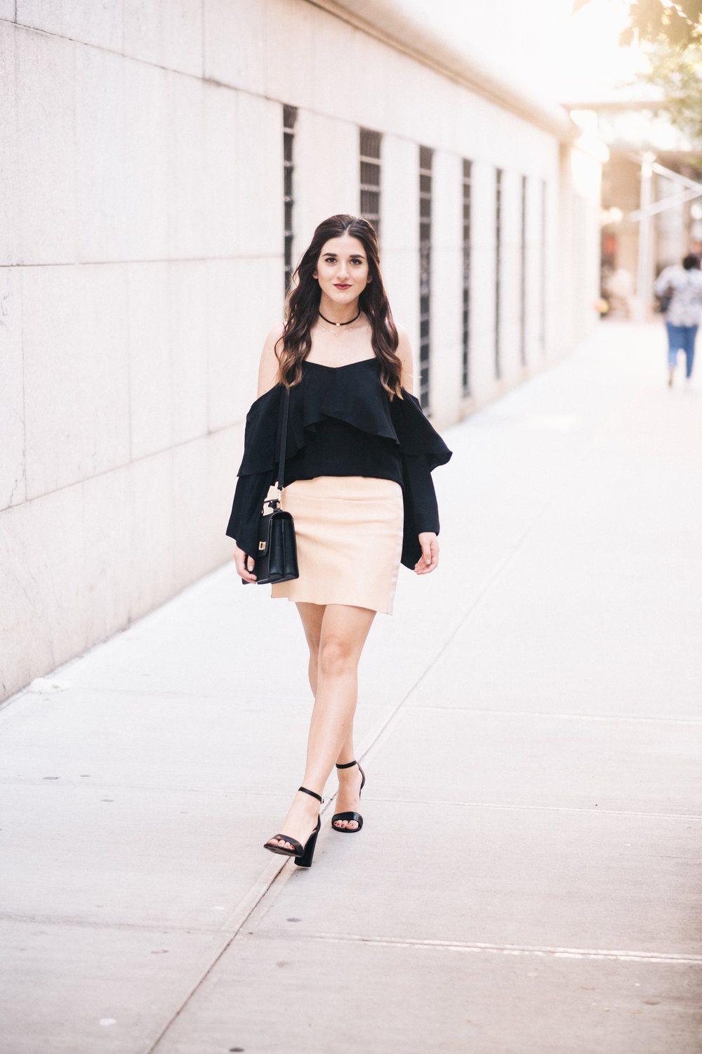 The+Perfect+Everyday+Bag+Henri+Bendel+Louboutins+&+Love+Fashion+Blog+Esther+Santer+NYC+Street+Style+Blogger+Outfit+OOTD+Trendy+Jay+Godfrey+Black+Cold+Shoulder+Top+Pink+Pleather+Skirt+Zara+Ivanka+Trump+Klover+Sandals+Heels+Purse++Inspo+Women+Girl+Hair.jpg