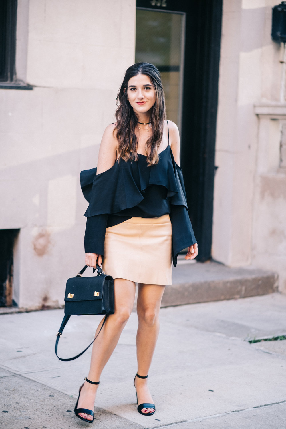 The+Perfect+Everyday+Bag+Henri+Bendel+Louboutins+&+Love+Fashion+Blog+Esther+Santer+NYC+Street+Style+Blogger+Outfit+OOTD+Trendy+Jay+Godfrey+Black+Cold+Shoulder+Top+Pink+Pleather+Skirt+Zara+Ivanka+Trump+Klover+Sandals+Heels+Inspo+Women+Purse+Girl+Hair.jpg