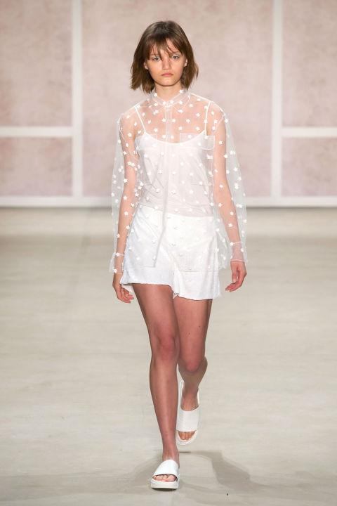 NYFW Noon By Noor Fashion Show Spring Summer 2017  Louboutins & Love Fashion Blog Esther Santer NYC Street Style Pants Dress Neutrals Embellisments Black White Blush Tan Shoes Sheer Girl Woman Designer New York .jpg
