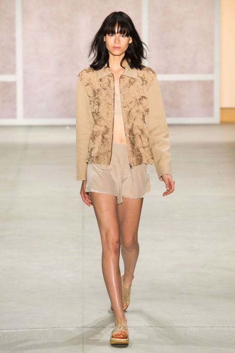 Noon By Noor Fashion Show Spring Summer 2017 Louboutins & Love Fashion Blog Esther Santer Street Style Sheer Sets Matching Neutrals Ready To Wear Slides Sneakers Comfy Chic Girl Woman Cardigan Ensemble Bomber Jacket.jpg