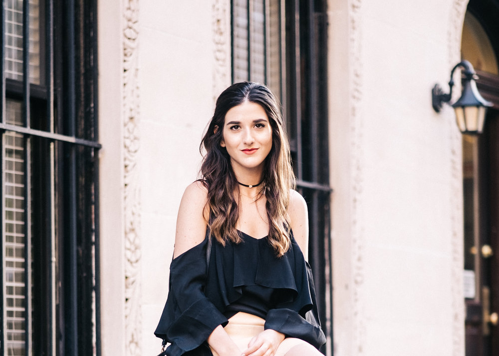 Choker Game Strong Amare Jewels Louboutins & Love Fashion Blog Esther Santer NYC Street Style Blogger Outfit OOTD Trendy Fashionista Jewelry Brand Collaboration Girl Women Hair Brunette Stylish Fad Black Gold Pretty Beautiful Photoshoot Model New York.jpg