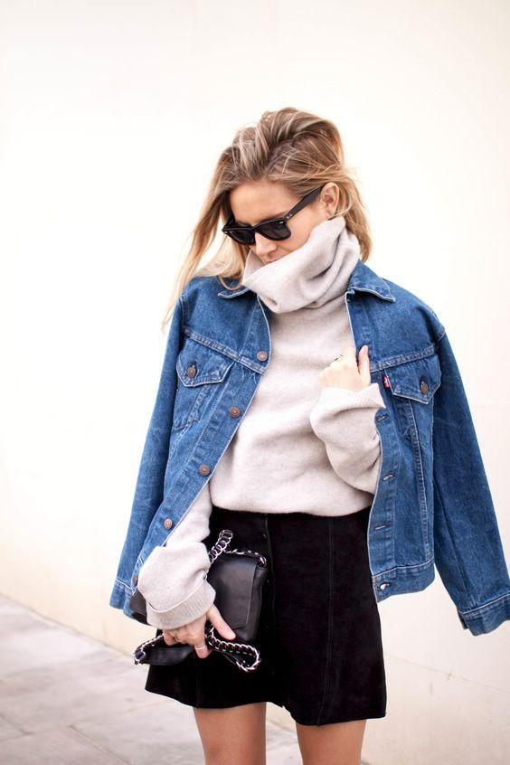 Louboutins & Love Fashion Blog Esther Santer Street Style Chic Fall Looks Cool Leather Brown Neutrals Hat Crossbody Bag Sunglasses Blonde Creame Zipper Women Lady Girl Cute Denim.jpg