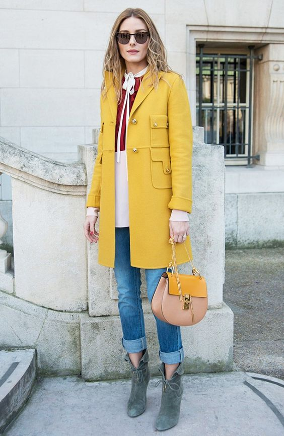 Louboutins & Love Fashion Blog Esther Santer Street Style Chic Fall Looks Cool Leather Brown Neutrals Hat Crossbody Bag Sunglasses Blonde Creame Zipper Women Lady Girl Cute Yellow Duster Coat.jpg