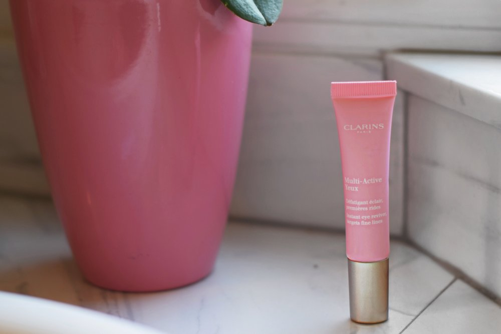 Fake A Good Night's Sleep Clarins Multi-Action Eye Cream Esther Santer Fashion Blog NYC Street Style Blogger Outfit OOTD Trendy Beauty Product Review Anti Aging Wrinkles Fine Lines Refreshing Soothing Pink Packaging Amazing Essential Buy Shop Shopping.JPG