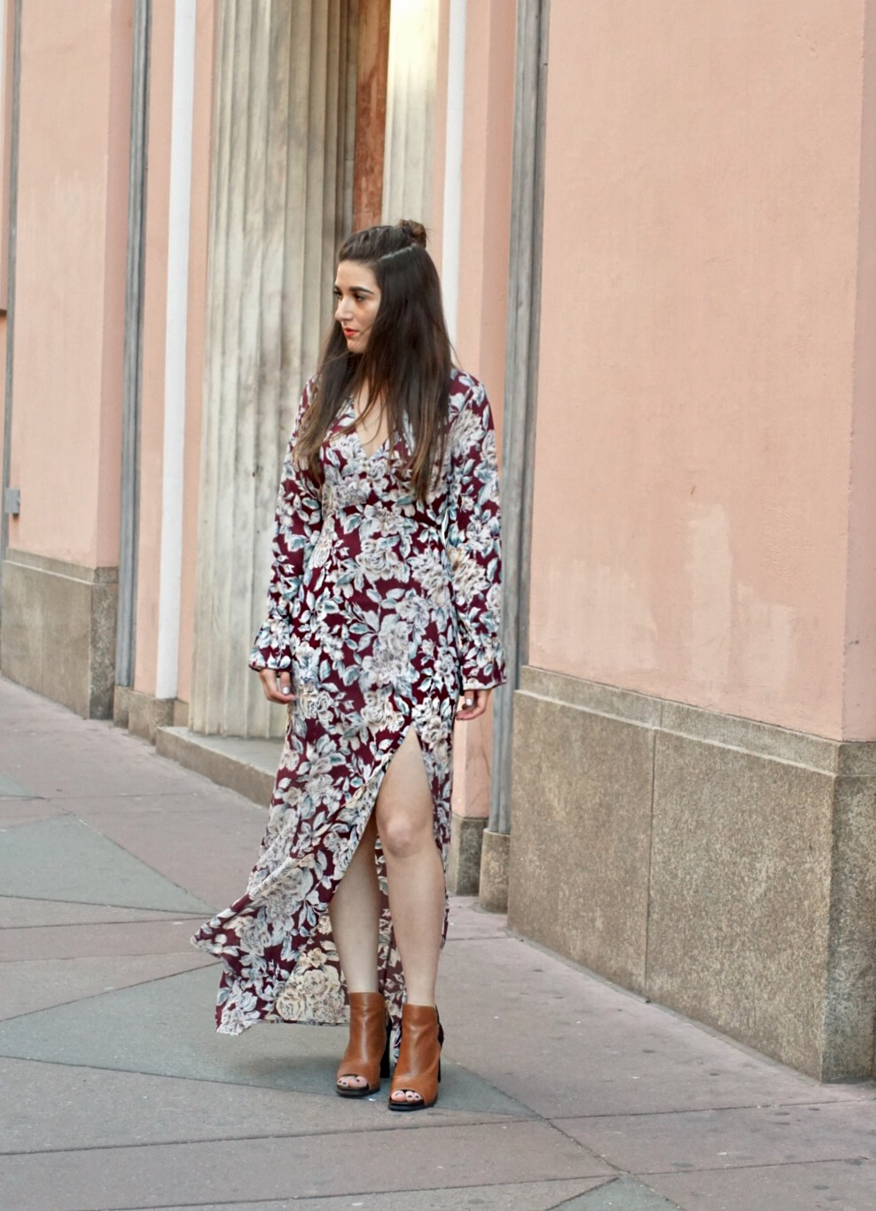Trescool Floral Dress How To Stay Productive When Working From Home Esther Santer Fashion Blog NYC Street Style Blogger Outfit OOTD Trendy Pretty Spring Beautiful Shoes M4D3 Topknot Braid Online Shopping Photoshoot Inspiration Wearing Inspo Girl Women.JPG