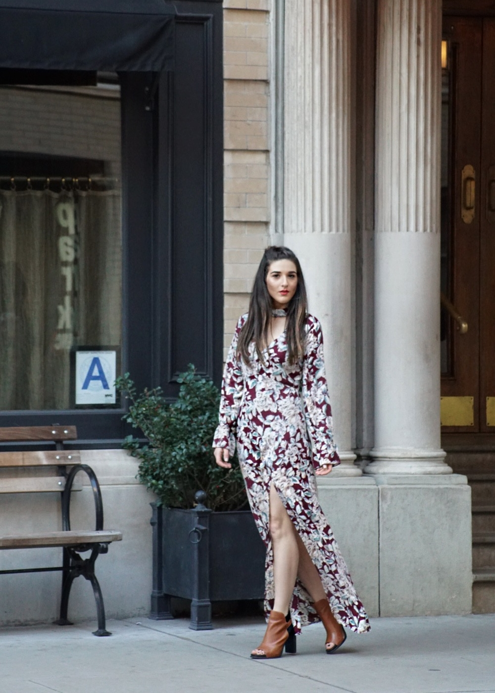 Trescool Floral Dress How To Stay Productive When Working From Home Esther Santer Fashion Blog NYC Street Style Blogger Outfit OOTD Trendy Pretty Spring Beautiful Shoes M4D3 Topknot Braid Wearing Online Shopping Photoshoot Inspiration Inspo Women Girl.JPG