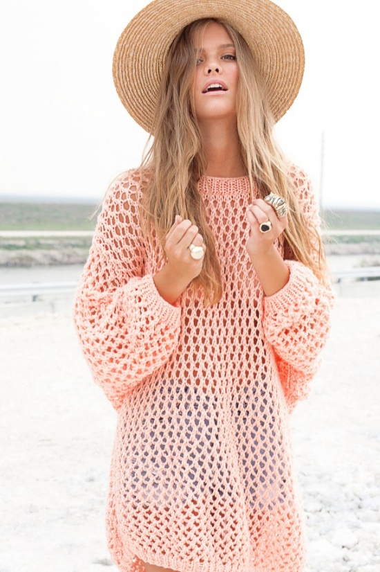 The Open Knit Dress