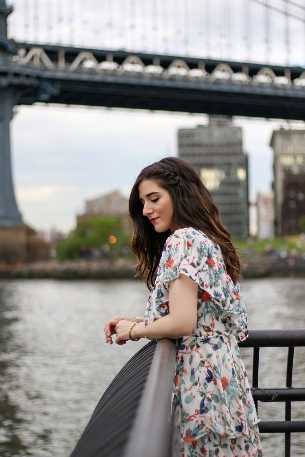 Ruffle Floral Maxi Dress Why You Should Trust Me Esther Santer Fashion Blog NYC Street Style Blogger Outfit OOTD Trendy Summer Outdoors Pretty Girly Photoshoot Feminine Beautiful Model Accessories Shoes Sandals Wedges Jewelry Gold Bracelets Women Shop.JPG