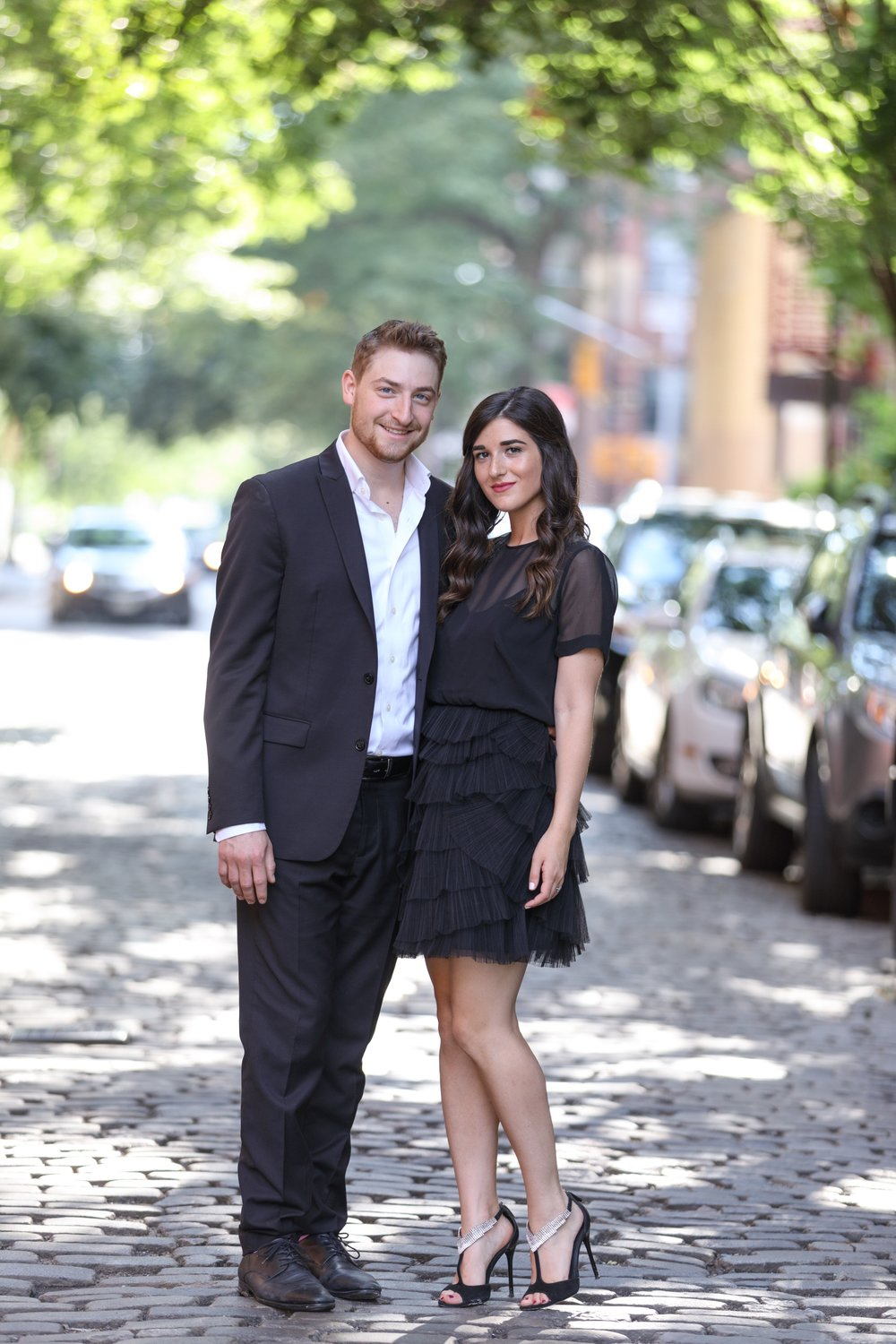 Why We Decided To Get Married On September 11 Esther Santer Fashion Blog NYC Street Style Blogger Outfits OOTD Trendy Engagement Shoot Photoshoot Lilian Haidar Photography Wedding Season Date Shoes Dress Suit Fancy Formal Happy Smile Heels Hair Girl.JPG