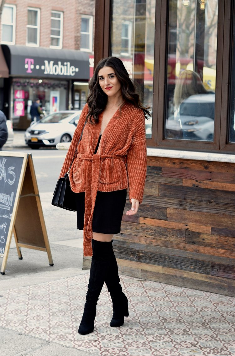 Orange Tie Sweater Otk Boots 10 Sweaters That Make The Perfect Holiday Gifts Esther Santer Fashion