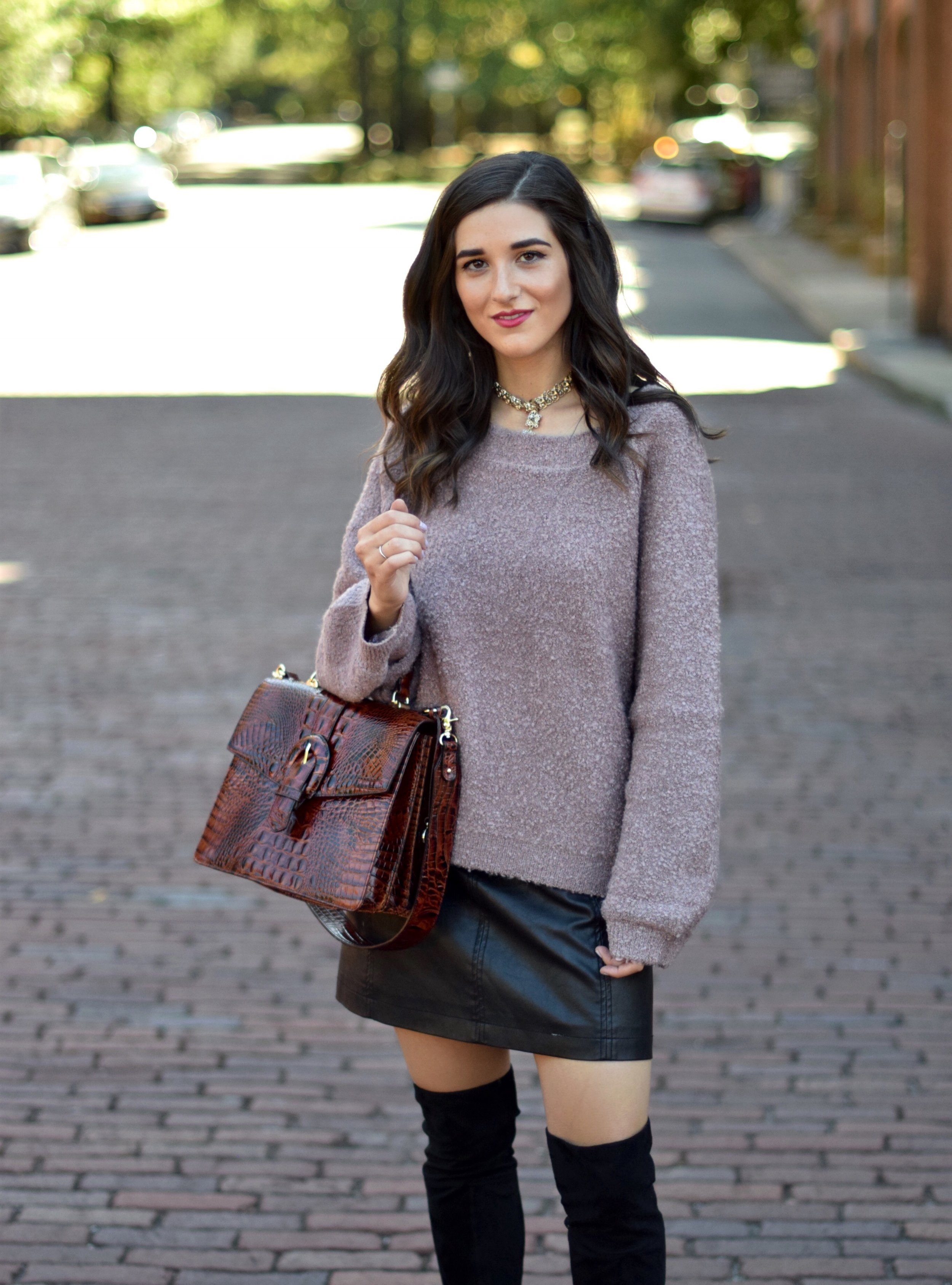 f786bc73b Winter Outfits With Leather Skirts | Saddha