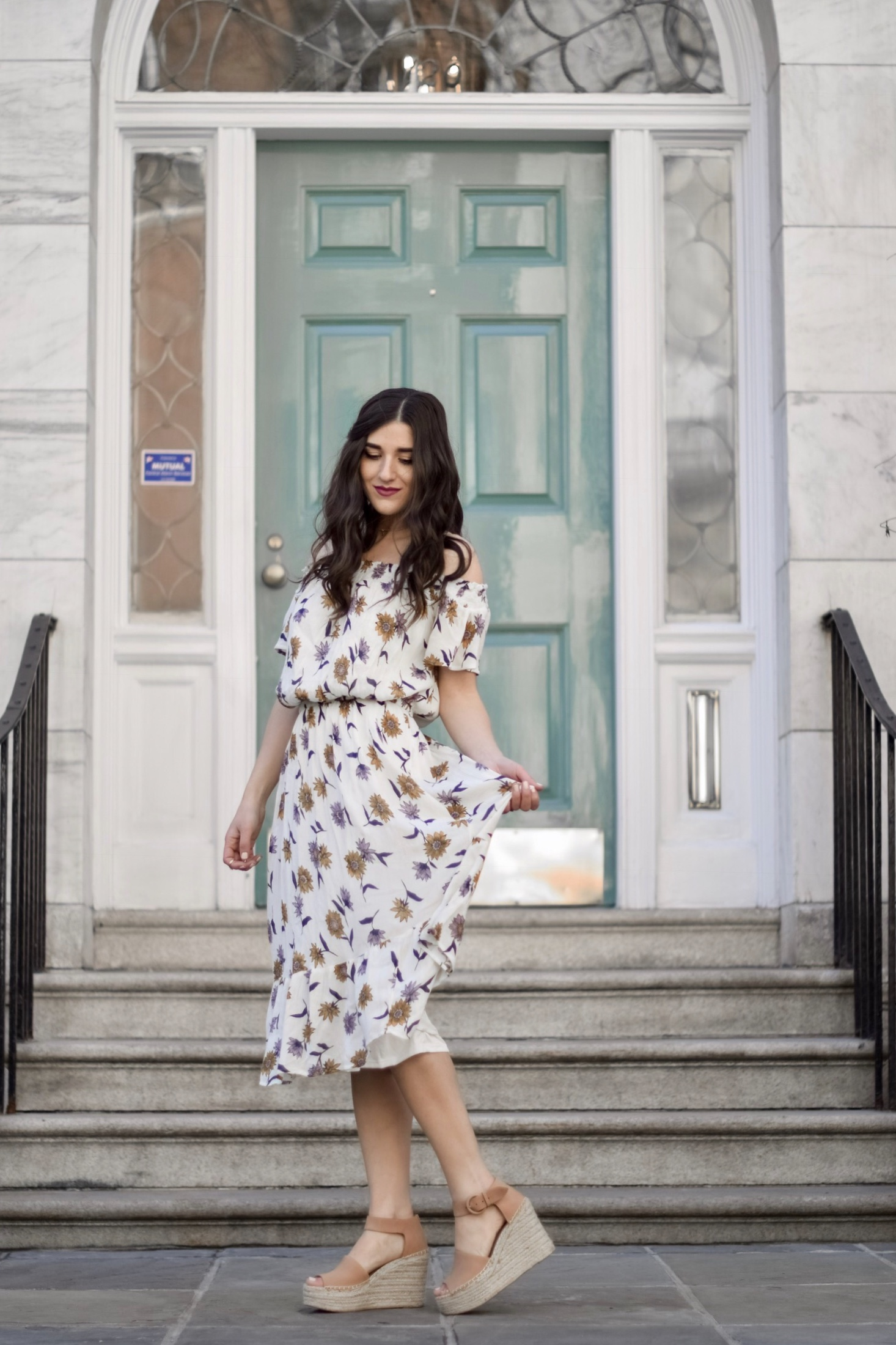 bf2ff66c6d47 Floral Cold Shoulder Maxi Dress + Espadrille Wedges    My Top 3 Rules Of  Business
