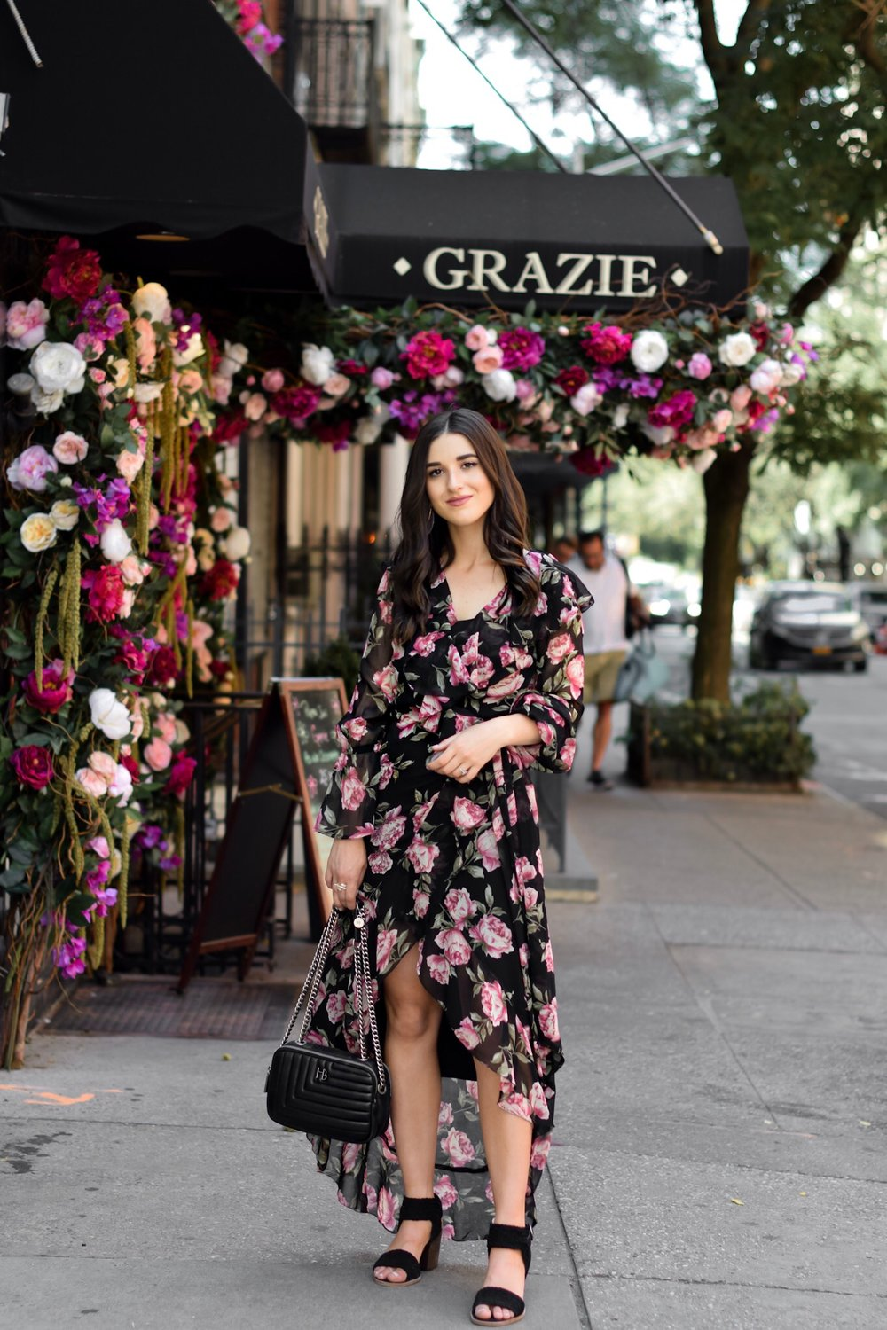 Why I'll Be Sitting Out My 11th Season Of NYFW Floral Maxi Wrap Dress Esther Santer Fashion Blog NYC Street Style Blogger Outfit OOTD Trendy ASOS Vince Camuto Black Braided Sandals Summer Look Floral Backdrop New York City Upper East  Side Photoshoot.jpg