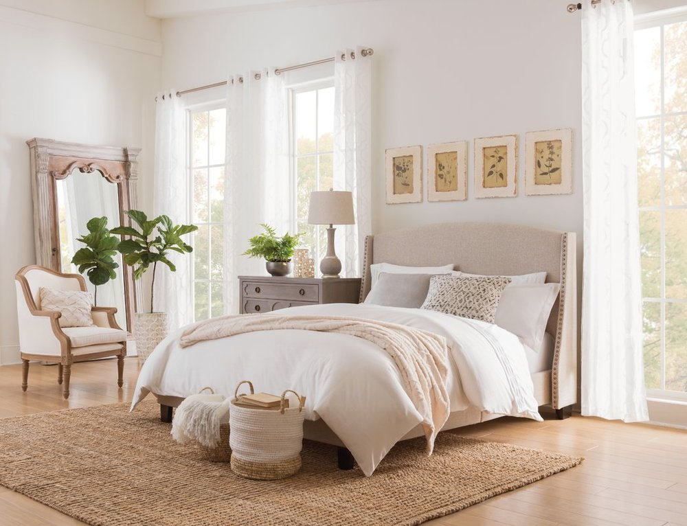 Chambery+Shelter+Back+Queen+Upholstered+Panel+Bed Wayfair Esther Santer NYC Street Style Blogger Home Decor Interior Design Inspiration Bed Headboard Grey Upholstered Beautiful Affordable Shopping Cream Pretty Studs Neutral Sale Dream Inspo Trendy.jpg