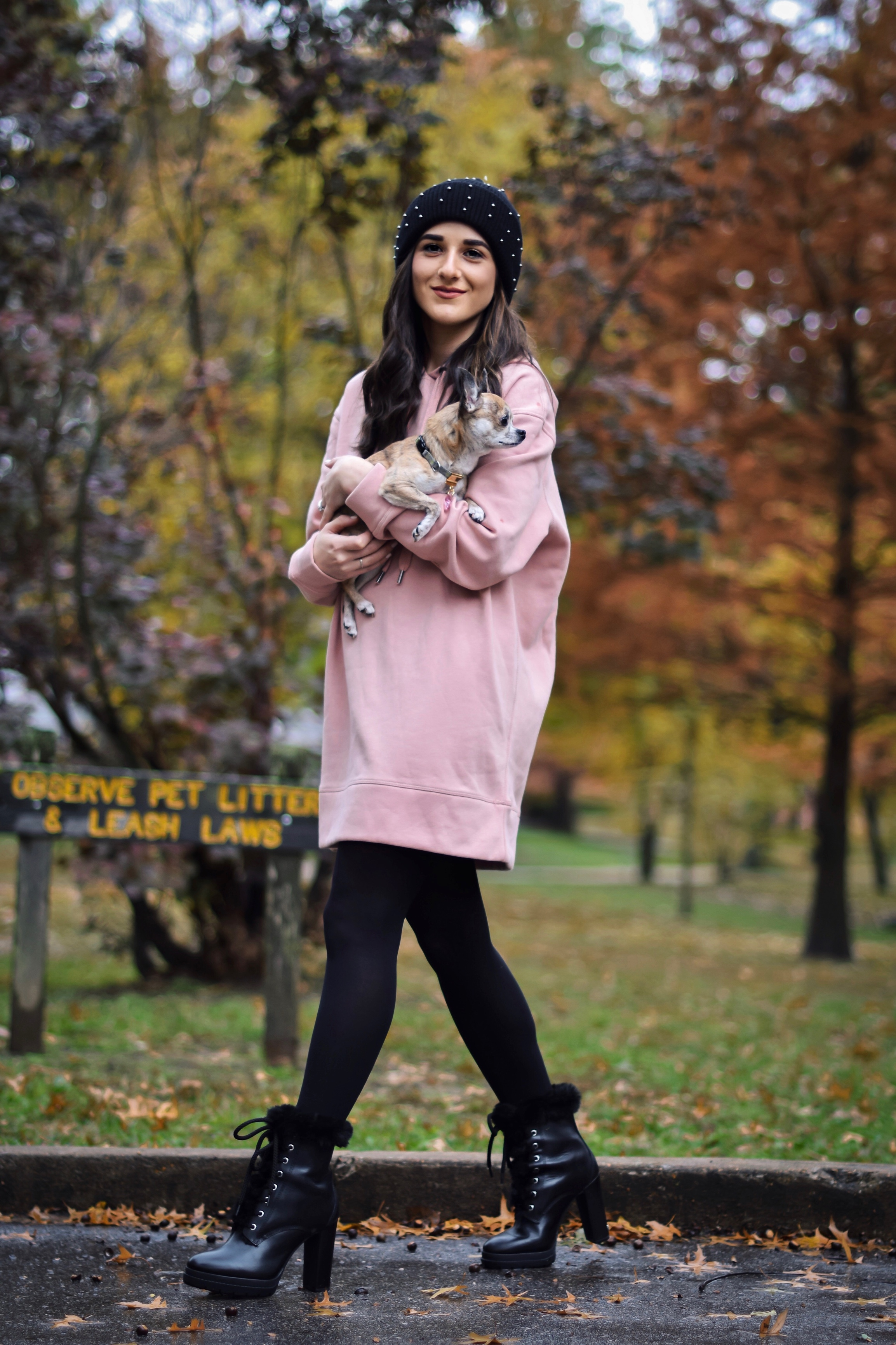 6c730a3719ab Getting Winter Ready With Macy's // Lace-Up Fur Booties + Beaded Beanie
