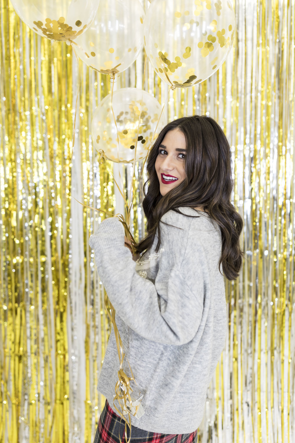 H&M Holiday Video Collab Esther Santer Fashion Blog NYC Street Style Blogger Outfit OOTD Trendy Confetti Streamers Balloons Presents Gift Wrap Shopping Wear Stylist Photoshoot Studio Videographer Hairstyle DryBar Girls Friends Belt Accessories Jewelry.jpg