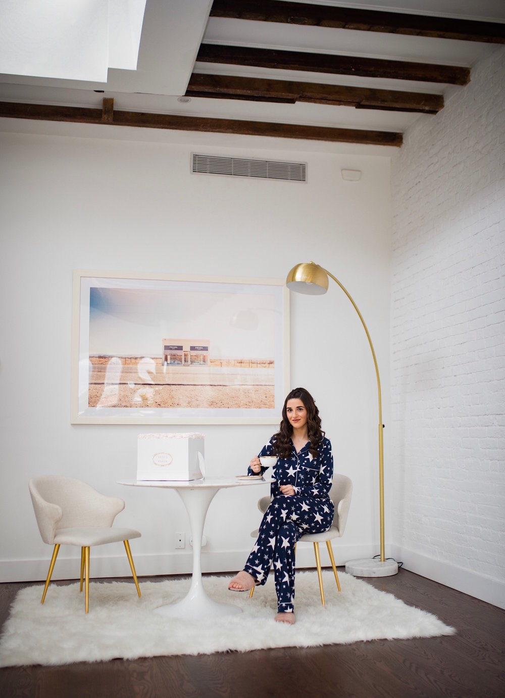 5 Tips For Becoming A Morning Person Navy Star Pajamas Esther Santer Fashion Blog NYC Street Style Blogger Outfit OOTD Trendy Shopping PJs Holiday ASOS Cute Wear Interior Beautiful Home Penthouse Wayfair Circle Mirror Venus Et Fleur Marble Art Table.jpg