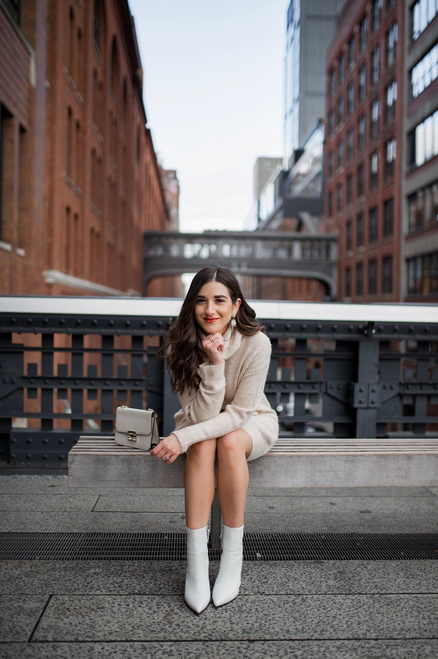 How Blogging Is Far From Freeloading    Beige Sweater Dress + White Booties  — Esther Santer 87aa16b2e