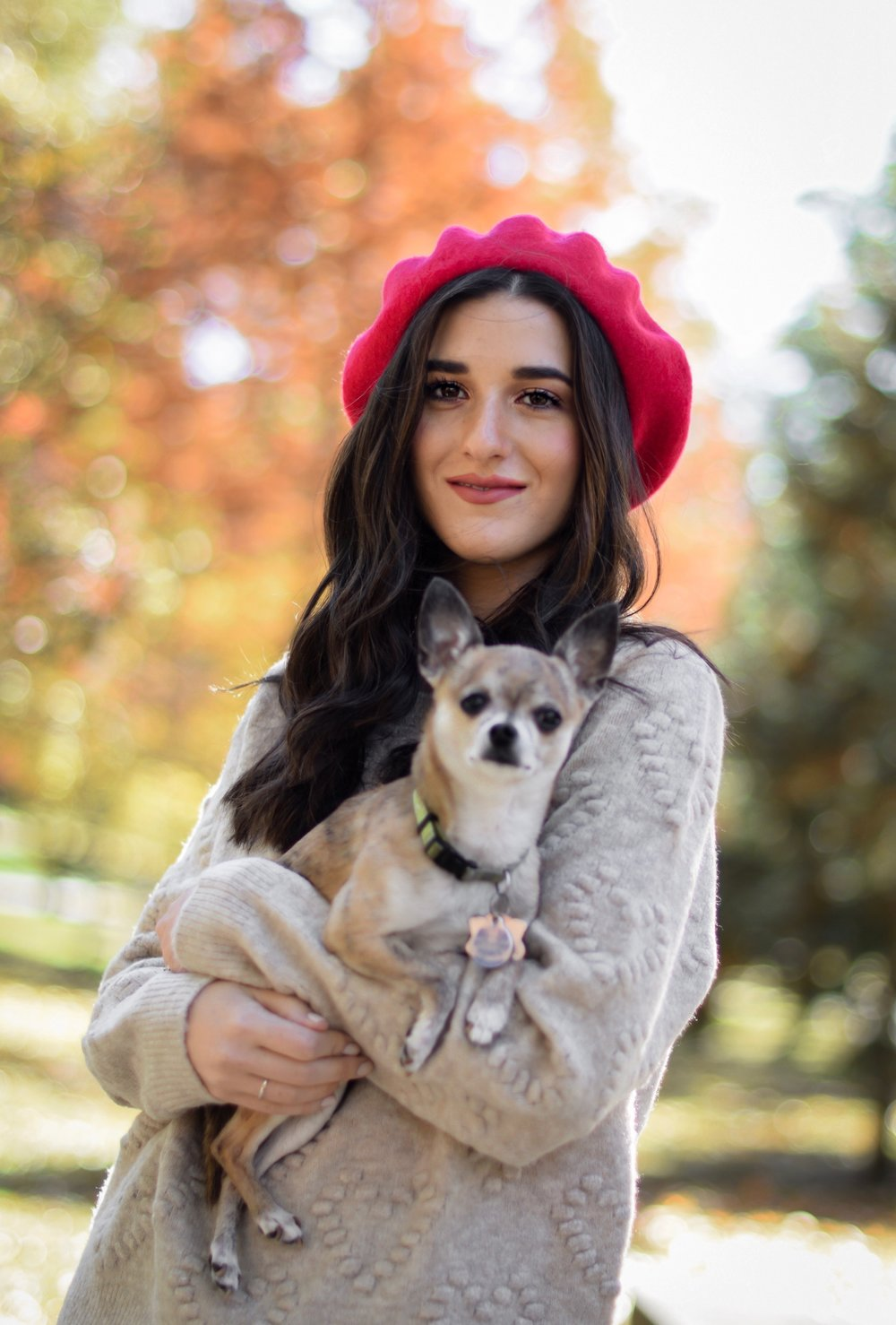 10 Tips To Being Productive On Your Next Flight Esther Santer Fashion Blog NYC Street Style Blogger Outfit OOTD Trendy Shopping Dog Chihuaha Red Beret Instagram Puppy Romeo Photoshoot Saint St Louis Lipstick Fall Trees Happy Hearts Sweater H&M  Winter.jpg