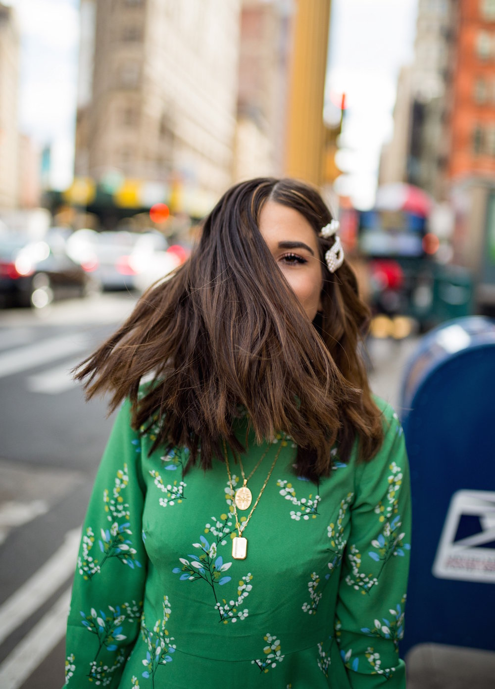 Fresh Cut And Color Sharon Dorram Color at Sally Hershberger Esther Santer Fashion Blog NYC Street Style Blogger Short Layered Haircut Balayage Honey Highlights New York City Upscale Salon Chop Natural Inspo Clips Pearl Barrettes Hair Accessories.JPG