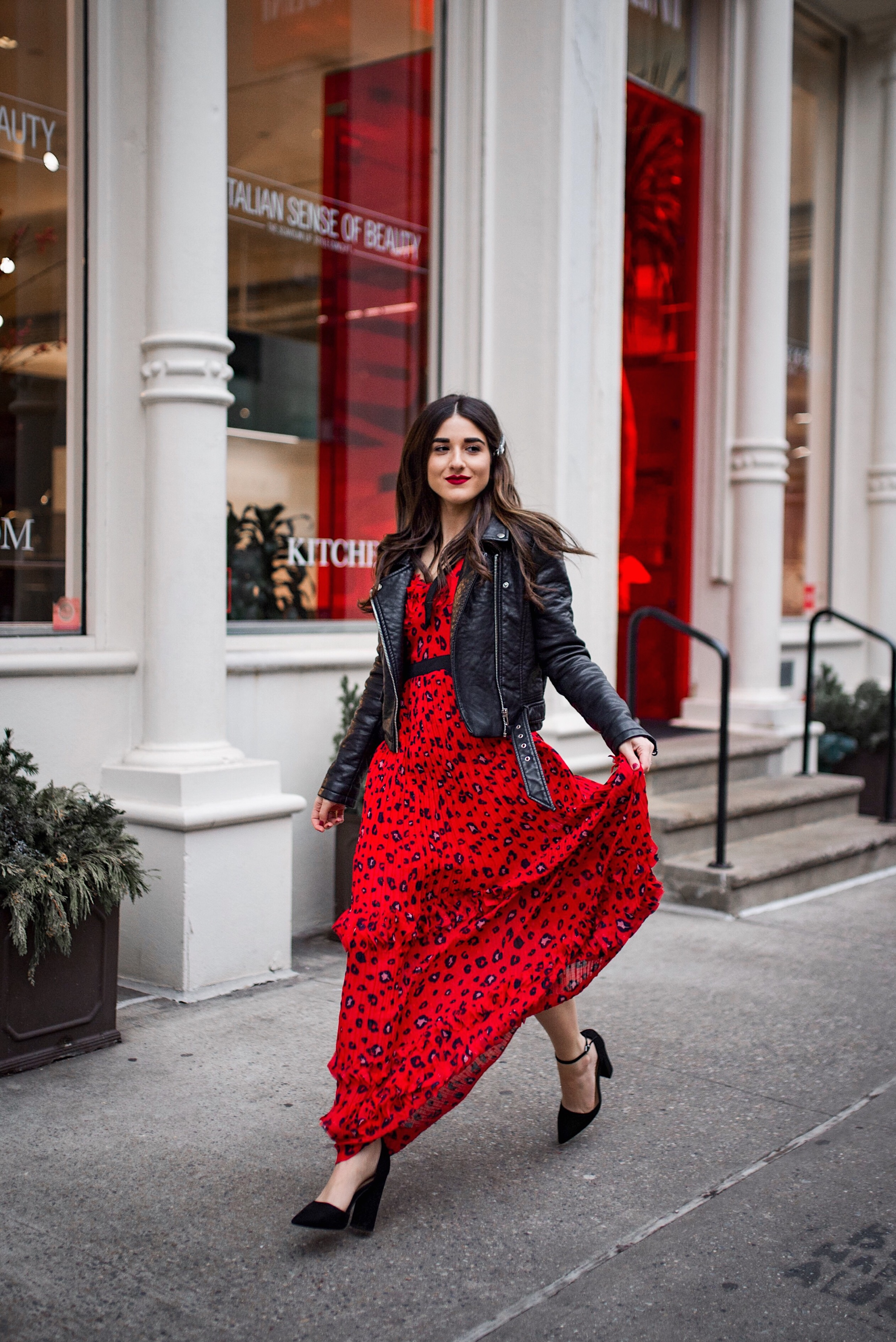 290e940cebd Why Do We Do Any Of This? // Red Leopard Dress + Moto Jacket ...